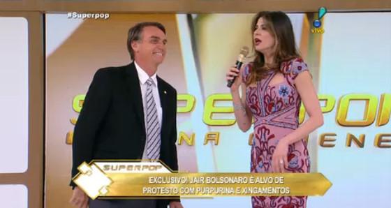 Jair Bolsonaro no programa Superpop 23/10/2017