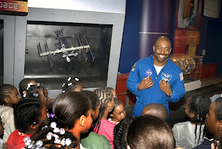Leland Melvin and Kids