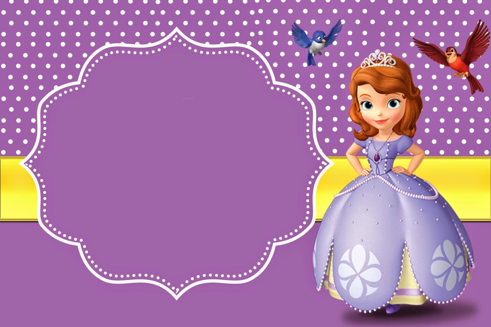 Bellas Invitaciones De Princesa Sofía Para Imprimir Gratis