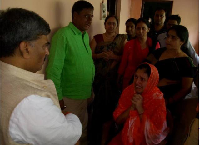 arun kumar meet krishan shahi family