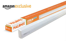 Halonix Streak 18 Watt LED Tube Light For Rs 299 (Mrp Rs 600) at Amazon deal by rainingdeal.in