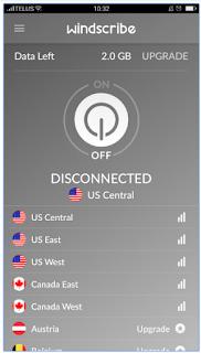 Terhubung ke windscribe VPN