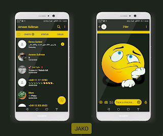Dark4 Theme For YOWhatsApp & Fouad WhatsApp By Ameen Suliman