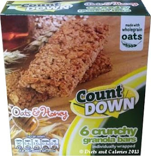 Poundland countdown granola bars