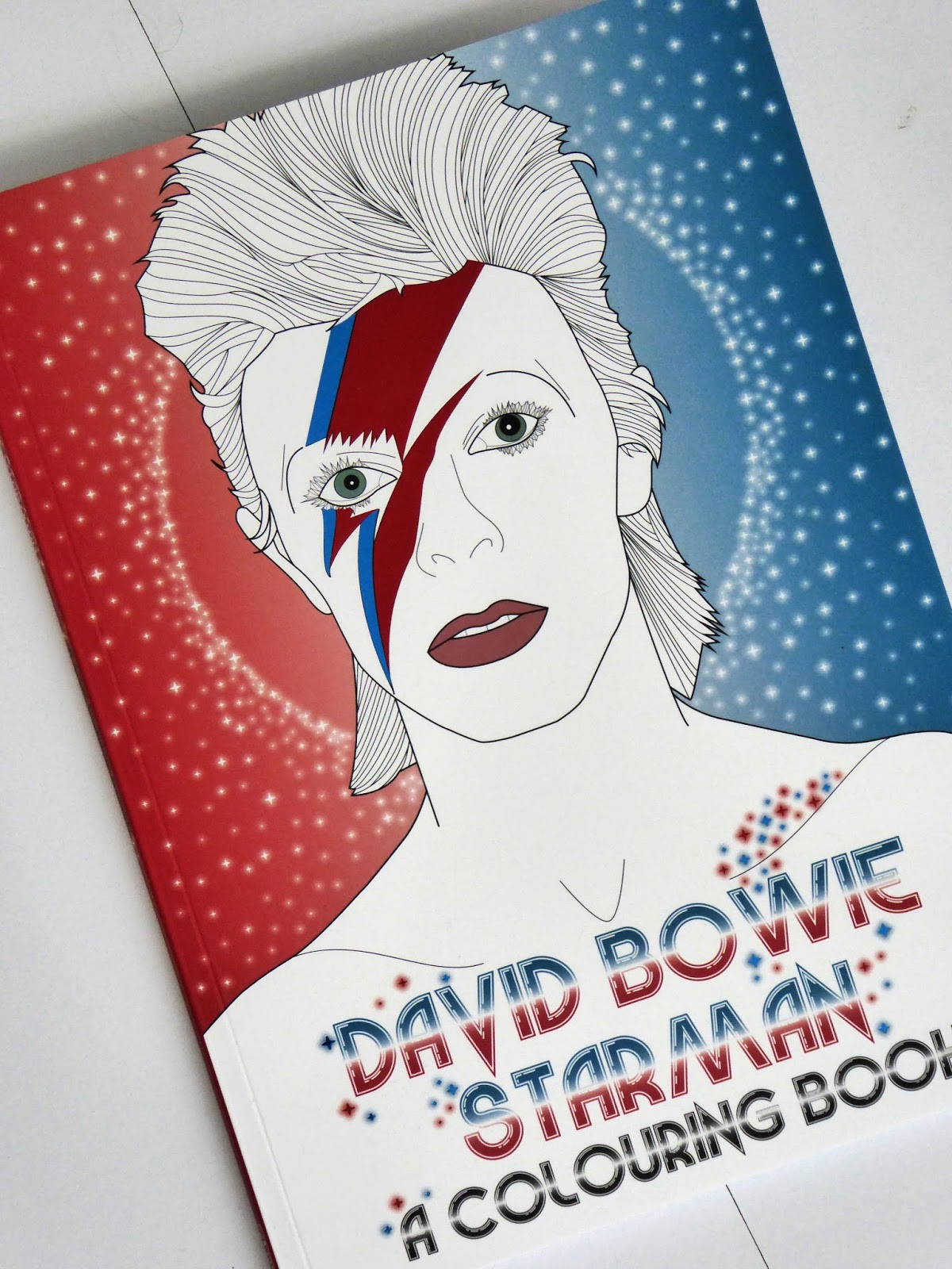 Review David Bowie Starman A Colouring Book Hollie In Wanderlust