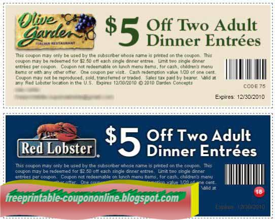 Printable Coupons 2018 Red Lobster Coupons
