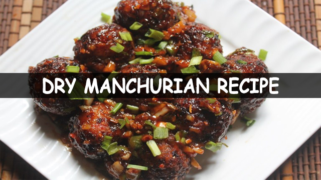 how to make dry manchurian recipe | dry manchurian recipe | Chinese recipe