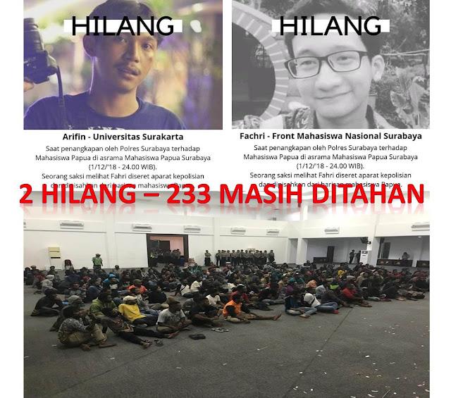 Polisi Segera Nyatakan Keberadaan Arifin, Fachri dan Bebaskan 233 Mahasiswa dari Polrestabes Surabaya