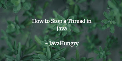 How to stop a thread in java