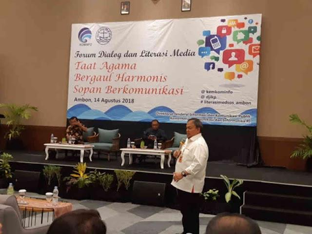 Kominfo dan PGI Gelar Dialog dan Literasi Media di Ambon