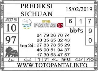 """Prediksi Togel """"SICHUAN"""" PANTAI4D 15 FEBRUARI 2019"""