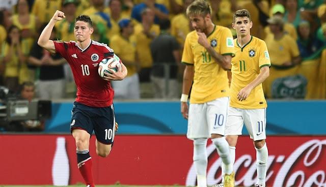 Brasil vs Colombia en vivo Clasificación Rusia 2018