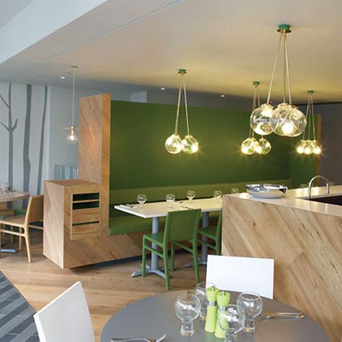 in design magz cozy elegant green restaurant interior design