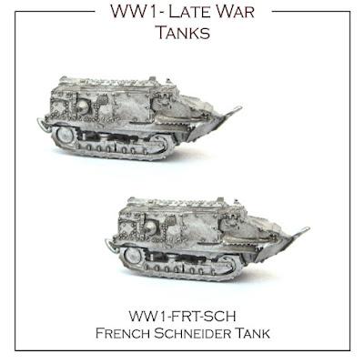 WW1-FR-SCH French Late War Tank - Schneider
