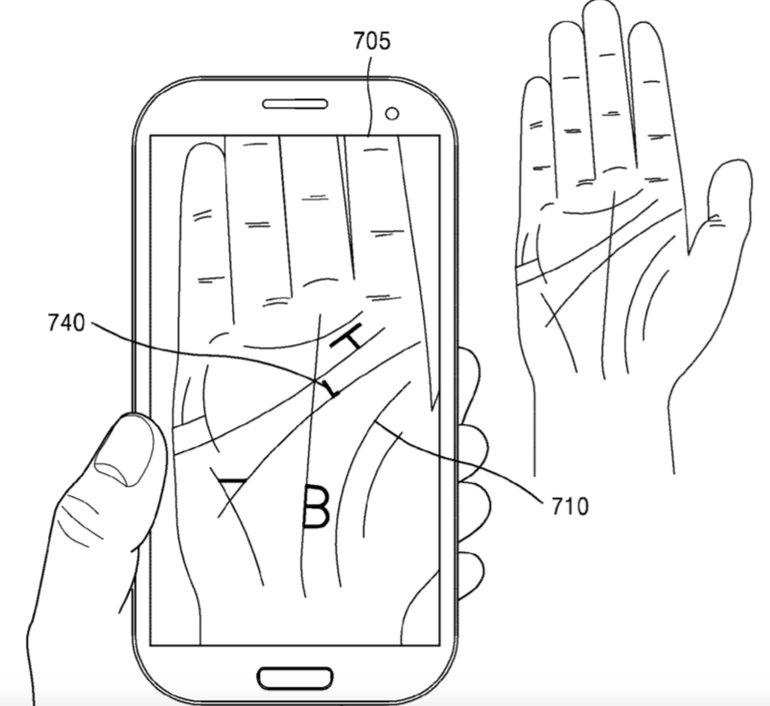 Samsung's Future Phones Could Retrieve Your Phone's Password Using Your Palm