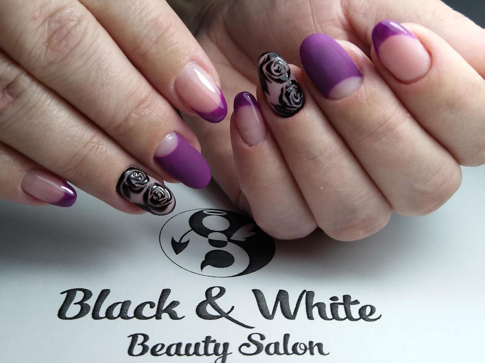 Black & White Nails Art Disign: Box Nail