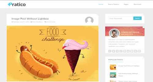 Pratico Clean & Responsive Blogger Template