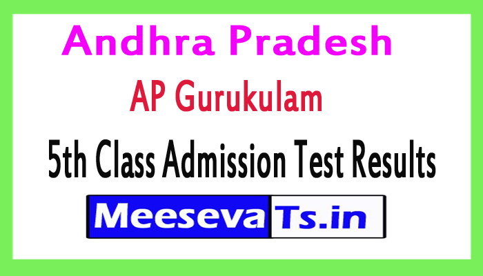 Andhra Pradesh AP Gurukulam 5th Class Admission Test Results
