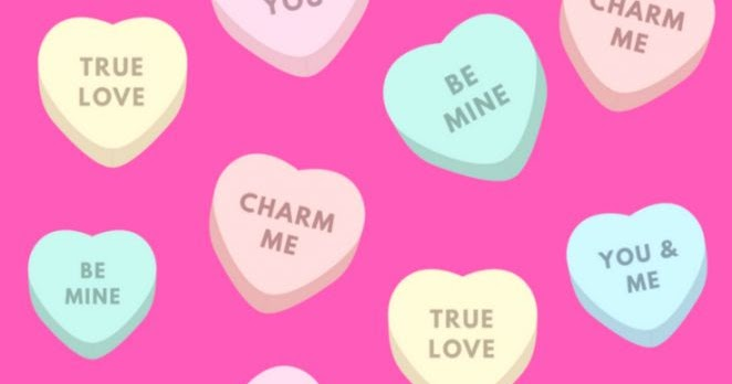 Happy Valentines Day Pink Candies Wallpaper | Wallpapers for Fun