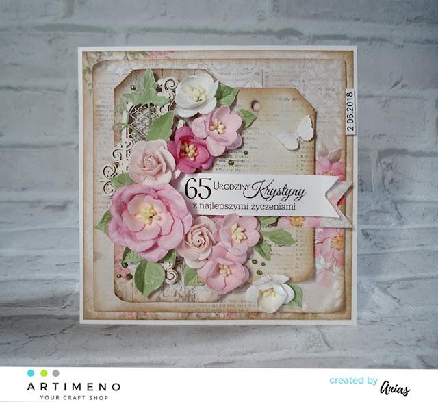 kartka z kwiatami