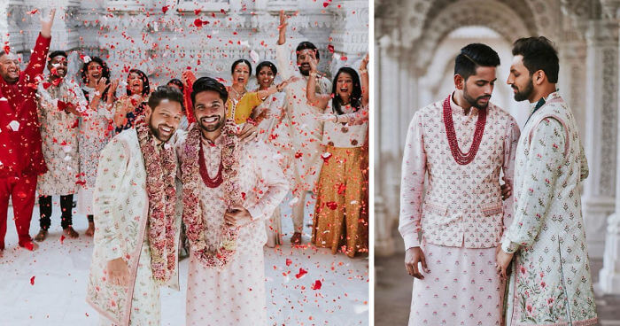 Gay Indian Couple Held A Traditional Wedding Ceremony In A Hindu Temple (Pictures)
