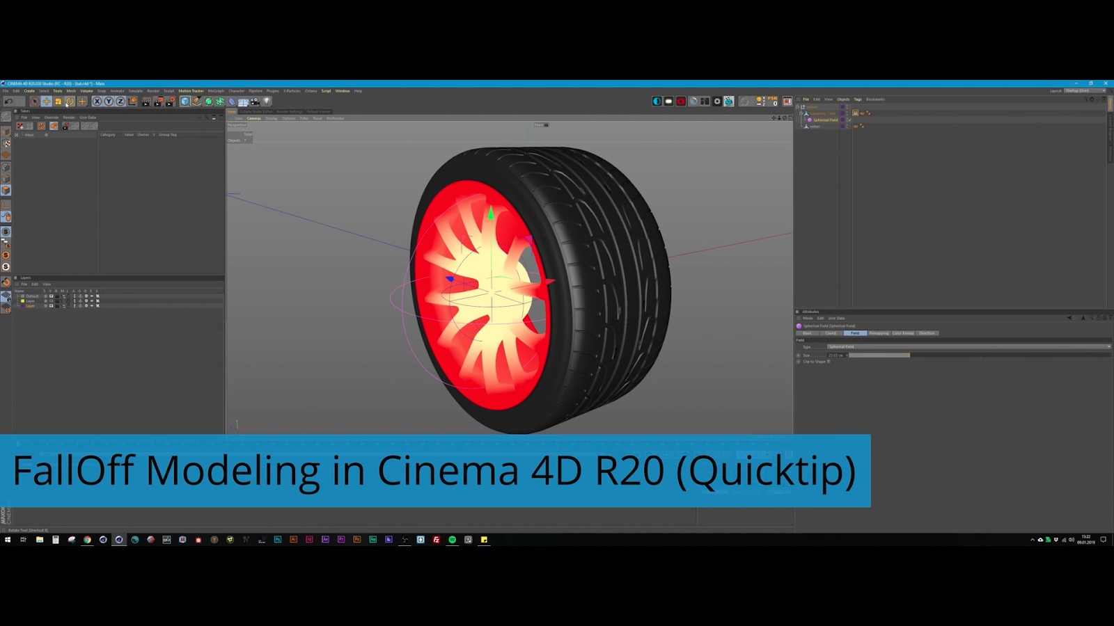 How to get Modo-like falloff modeling in Cinema 4D R20 | CG TUTORIAL