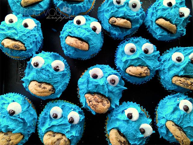 Krümelmonster-Cupcakes @frauvau.blogspot.de