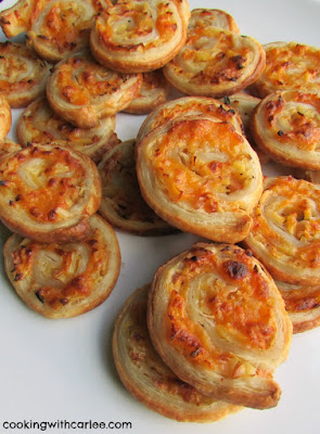 golden delicious puff pasty apple cheddar pinwheels ready to eat