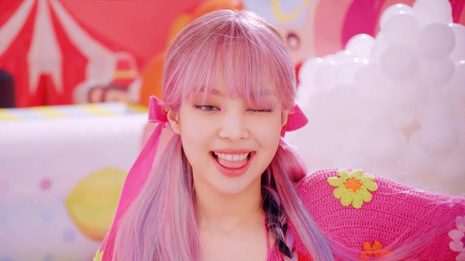 Jennie, Wink, BLACKPINK, Ice Cream, Pink Hair, 4K, #7.2622