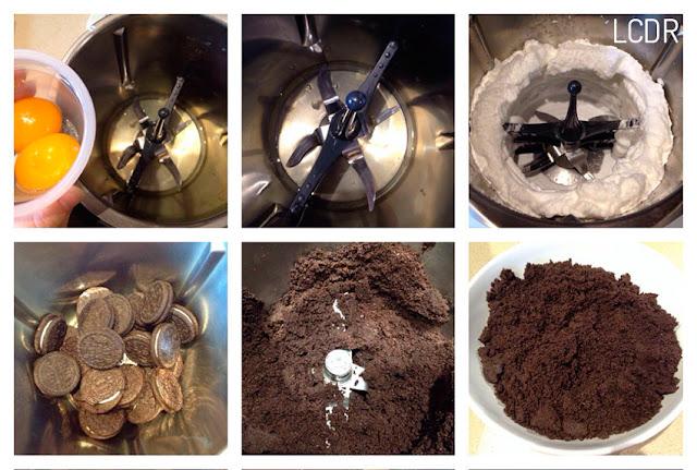 Receta de bizcocho de galletas Oreo 01