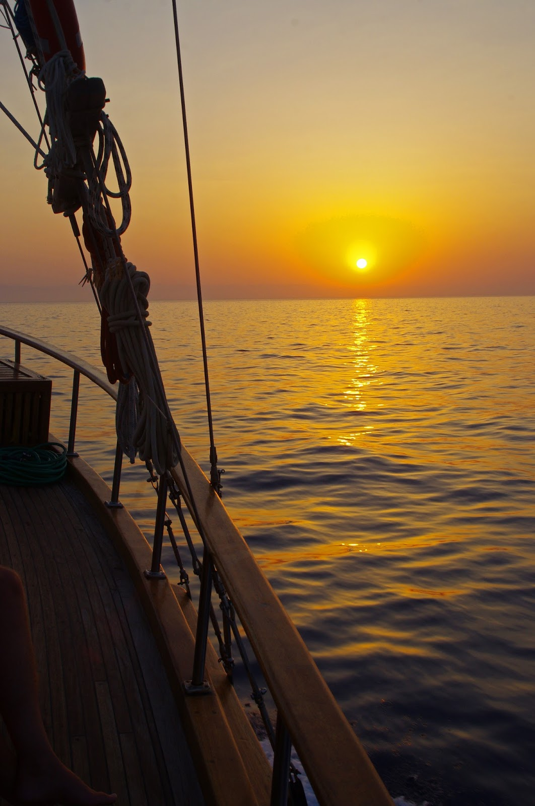 Sunset while sailing in Turkey
