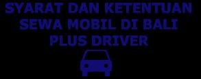 ketentuan sewa mobil di Bali