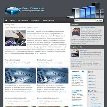 MagzEvo Finance blogger template. 3 column blogspot template. download free blogger template