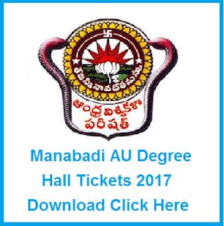 au ug hall tickets 2017 manabadi
