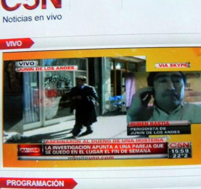 Piedra OnLine: C5N: Rubén Bastías reporta el asesinato de