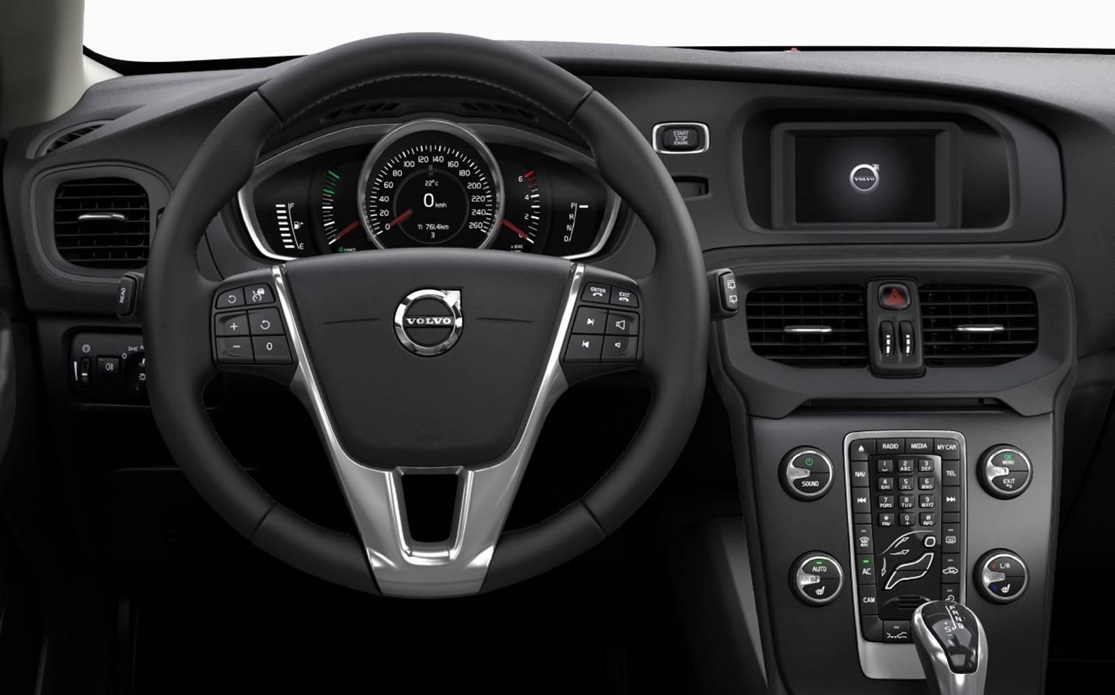 Volvo v40 2017 pre os consumo e especifica es brasil for Interior volvo v40