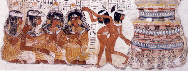 Nebamun tomb fresco dancers and musicians