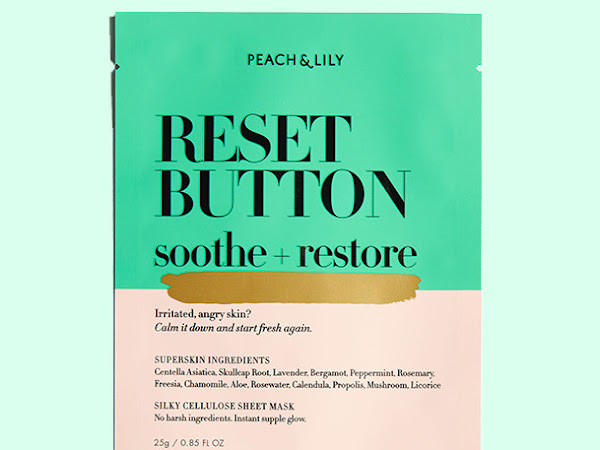 Review: Peach & Lily's New Reset Button Sheet Mask and $10 Off