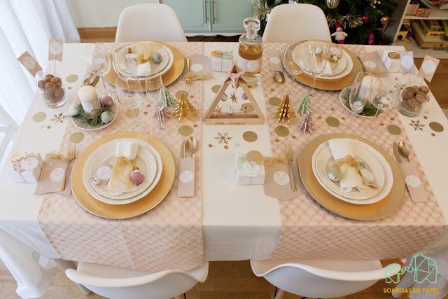 ideas diy decoracion mesa navidad