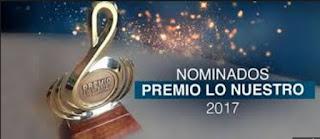 nominados premios lo nuestro 2017