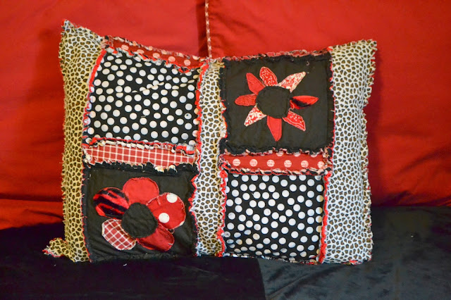Applique Flowers on Pillow