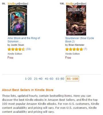 Souldancer Brian Niemeier Amazon top 100