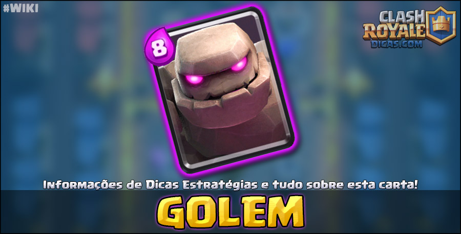Carta do Golem em Clash Royale