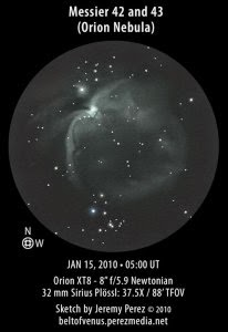 image of M42 & M43 Sketched by Jeremy Perez