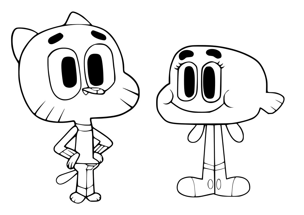 Adventures Of Gumball - Free Coloring Pages