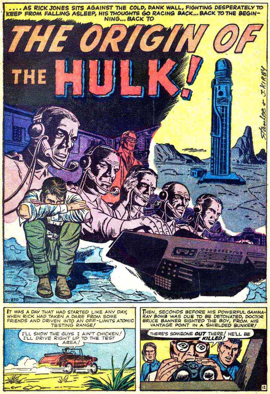 Incredible Hulk v1 #3 marvel comic book page art by Jack Kirby