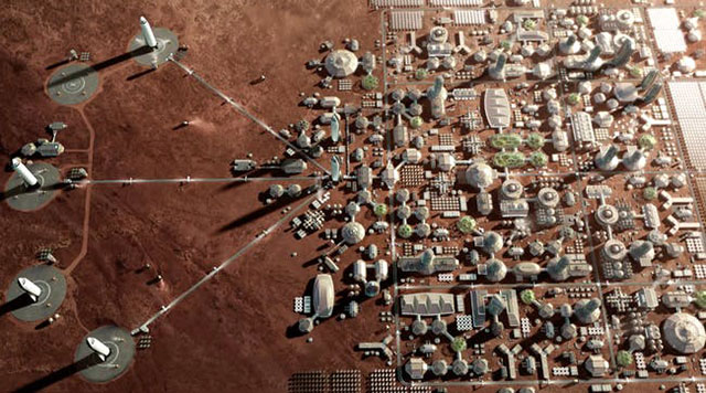 kota di planet mars