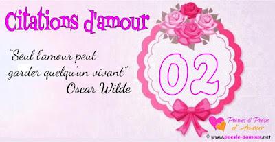 Citation romantique d'Oscar wilde : Seul l'amour peut garder quelqu'un vivant.