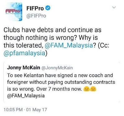 FIFPro Bela Nasib McKain, Mempersoalkan FAM Dan Membidas KAFA!