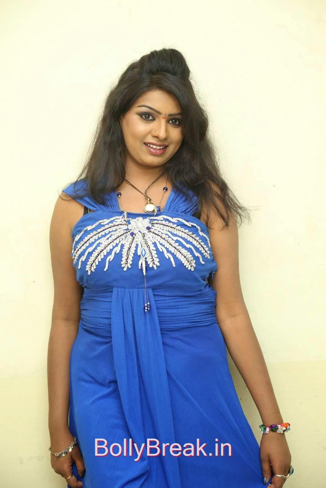 Tollywood Actress Sridevi, Sridevi Hot Pics In Blue Dress Romantic Target Movie Teaser Launch